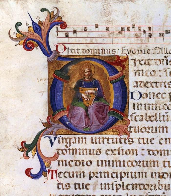 Kralj David u Psalteriju kojega je oslikao blaženi fra Angelico (1443-45.)