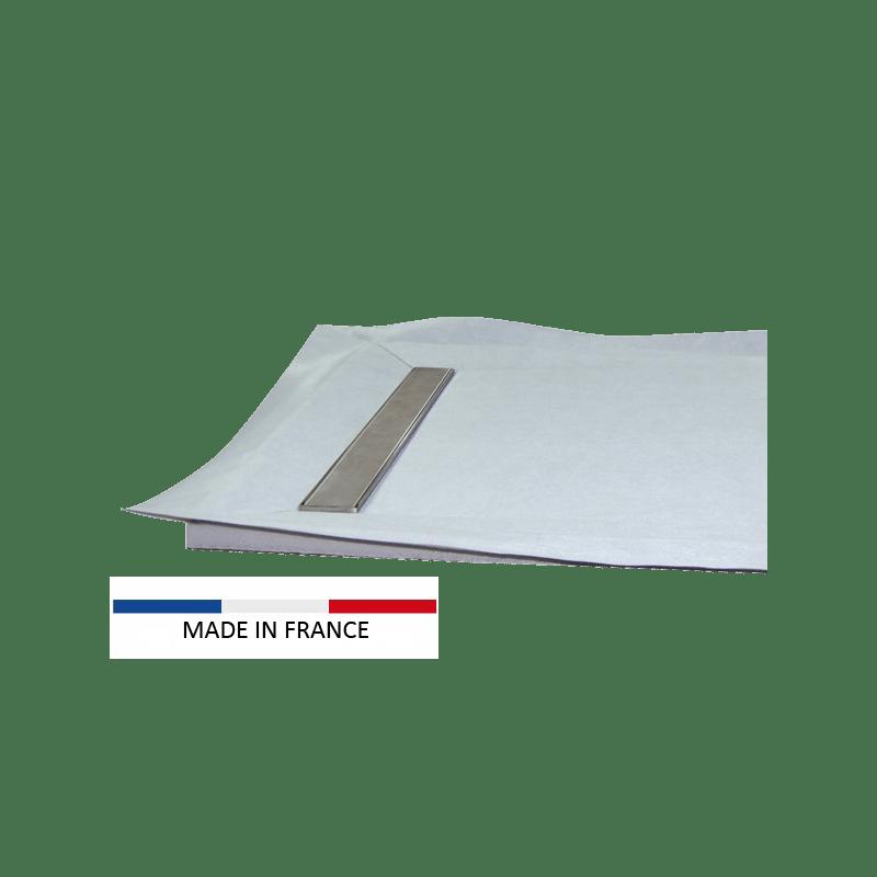 receveur a carreler caniveau monopente epaisseur 4 cm