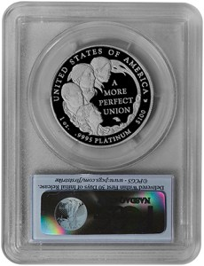 2009-W $100 Platinum Statue of Liberty (PCGS-PR70DCAM FS) - Rev
