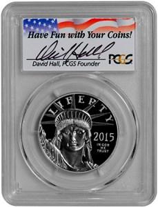 2015-W $100 Statue of Liberty (PCGS-PR70DCAM FS) - Hall - Obv