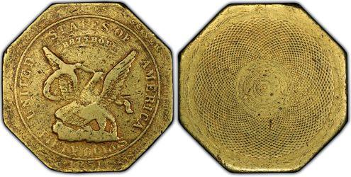 1851$50 レタードエッジハンバート887  トータルで残存8枚