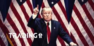 Donald Trump USA americká vlajka Amerika
