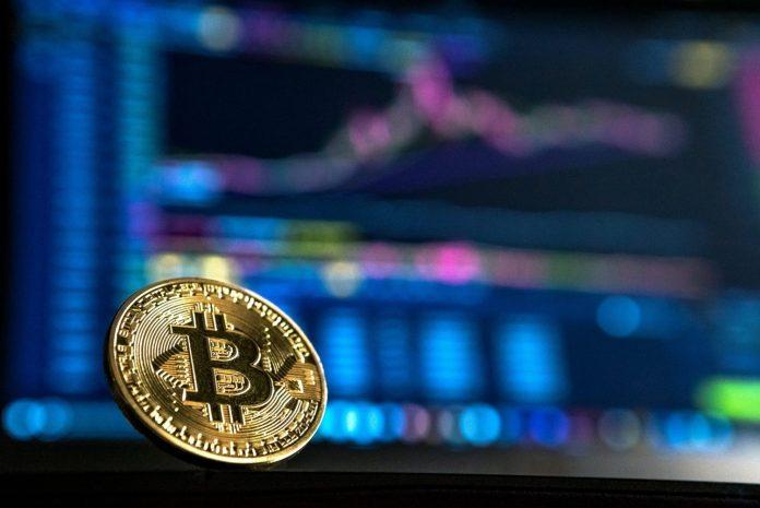 bitcoin BTC kryptoměny coin mince graf