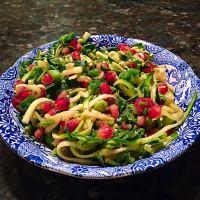 Pomegranate Zucchini Noodle Salad {Gluten Free, Clean Eats}