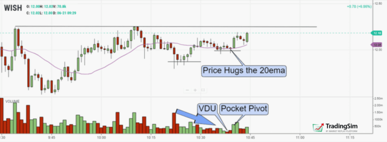VDU and Pocket Pivots in WISH