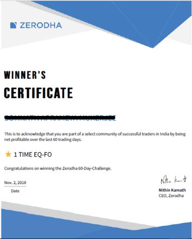 Zerodha 60 day Challenge