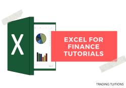 Excel for finance tutorials