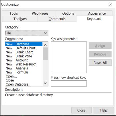 Keyboard Shortcuts in Amibroker 1