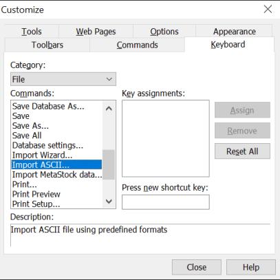 Keyboard Shortcuts in Amibroker 2
