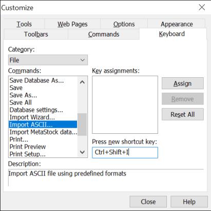 Keyboard Shortcuts in Amibroker 3