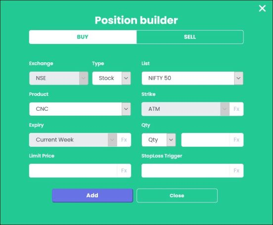 TradeTron Position Builder