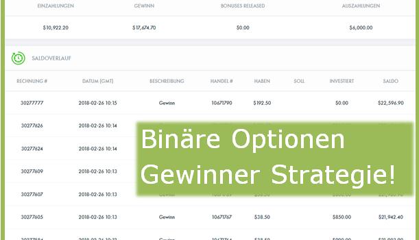 Binäre Optionen Gewinner Strategie – Target-Trade Analyse