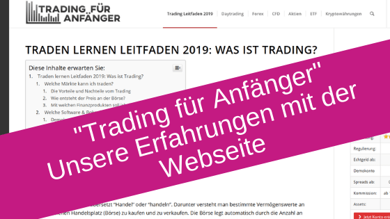"""""""Trading für Anfänger"""" Erfahrungen und Testbericht"""