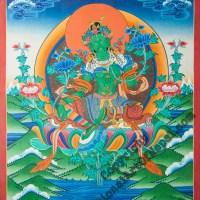 Thangka Green Tara