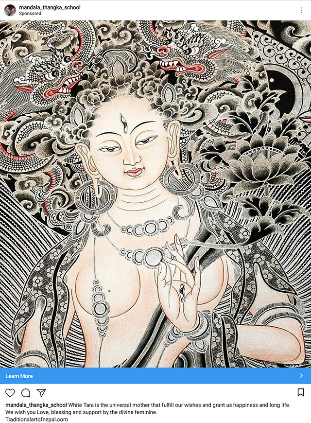 White Tara Painting censored