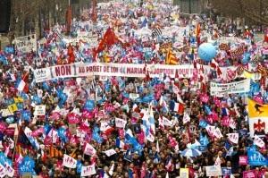 Paris Homosexual Marraige Protest