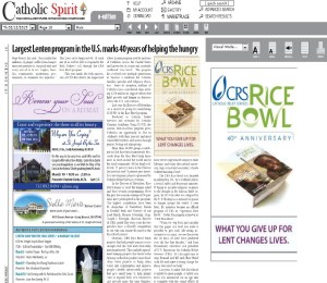 CRS 2015 Advertisement Article and Diocesan Solicitation