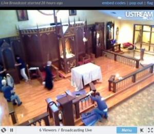 rebuilding the holy communion rail _05