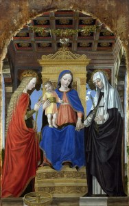 The Mystical Marriage of Saint Catherine of Alexandria and Saint Catherine of Siena_Bergognone_007
