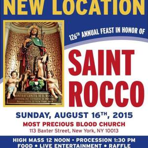 Saint Rocco Feast NYC August 16th 2015 - Moved To Most Precious Blood