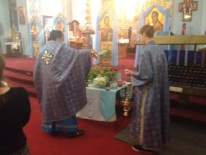 Eastern Catholic Blessing Of The Herbs At The Assumption Rite