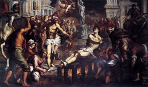 Saint Lawrence The Martyr by Di Palma il Giovane