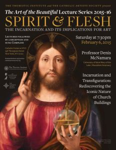 CAS Lecture Series The Spirit And The Flesh