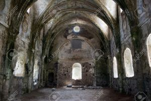 ancient-church-in-ruins-in-abandoned-village-Kayakoy-Turkey-Stock-Photo