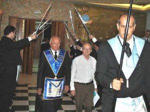 Bishop of Jales, a city in the State of Sao Paulo, Brazil Pictured In Plain Cloths Is Escorted To Their Altar To Give A Talk On Methods Of Establishing Collaboration Between Masonry And Catholicism