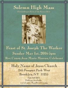 Brooklyn_ St_ Joseph The Worker- Feast Mass- Brooklyn_ May_1st