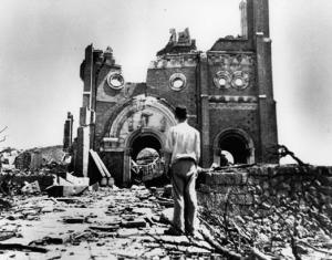 Devastated Catholic_Church_Ruins_In_Nagasaki