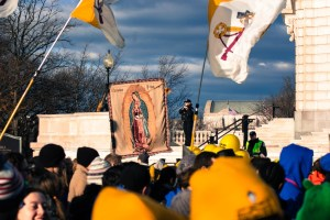 OL of Guadalupe & Papal Flag