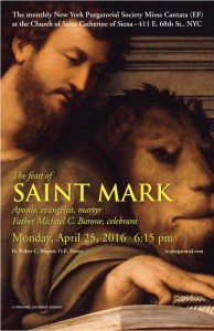 Saint Mark EF Mass April 25th