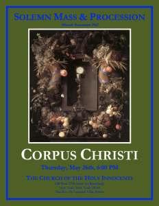 Feast Of Corpus Christi 052616