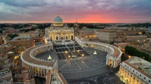 Obscured Clouds On The Horizon Above The Vatican