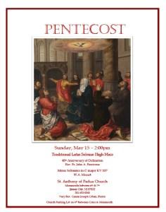 Pentecost 2016 At Jersey Citys Saint Anthony Of Padua