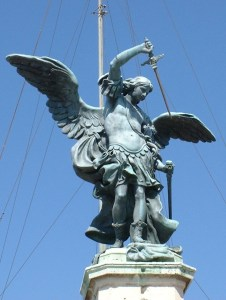 St Michael the Archangel above the Castel Sant'Angelo