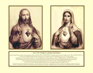 Two Hearts Family Consecration