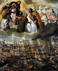 Our Lady Assisting The Battle of Lepanto