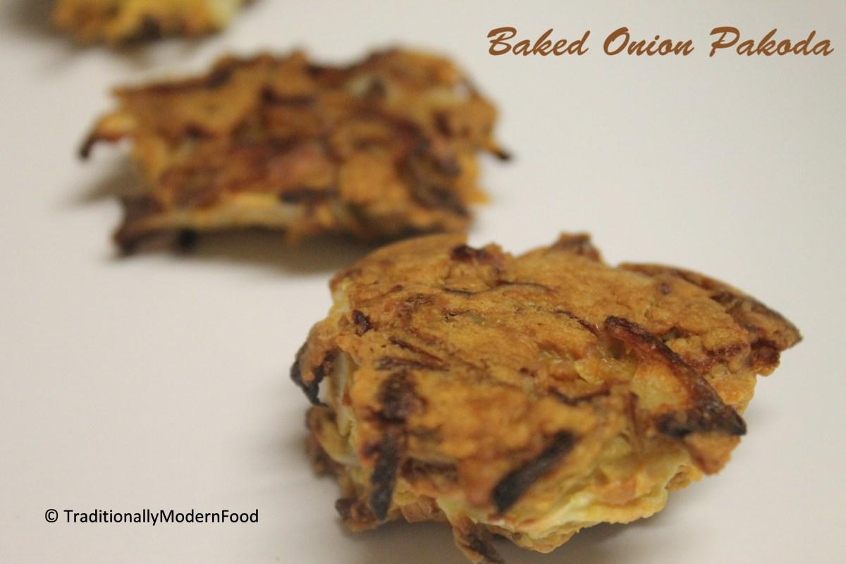 Baked Onion Pakoda/ Pakora /Fritters