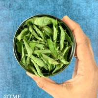How to dry Curry leaves in microwave