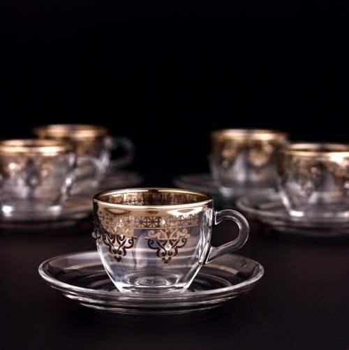 Silver Color Coffee Mugs - Tea Glasses For Six Person