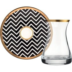 12 Pcs Glazze Angelina Crystal Luxury Tea Set