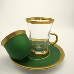 Pasabahce 18 Pcs Green Color Tea Set