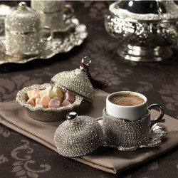 CrystalStone Coated Unique Coffee Cups Set