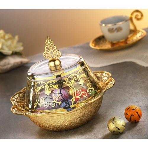 Gold Color Ottoman Style Delight Bowl
