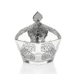 Silver Color Vintage Sugar Bowl
