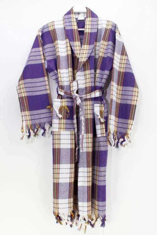 Classic Lilac Color Peshtemal Bathrobe