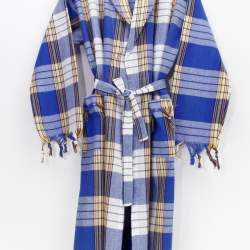 Classic Blue Color Peshtemal Bathrobe