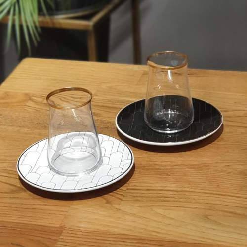 12 Pcs Cote Luxury Tea Glass Set
